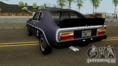 Ford Capri RS 3100 1973 для GTA San Andreas вид сзади слева