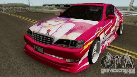 Toyota Cresta JXZ100 Neko Musume Itasha для GTA San Andreas