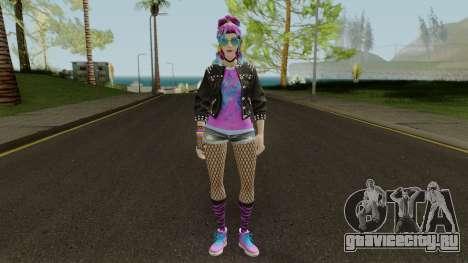 Fortnite Female Garage Band для GTA San Andreas второй скриншот