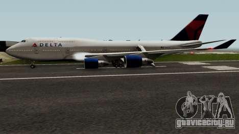 Delta Air Lines Boeing 747-400 для GTA San Andreas