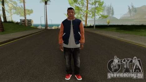 Skin Franklin V2 GTA V для GTA San Andreas