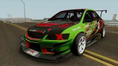 Mitsubishi Lancer Evolution IX OZ Drift V2 2006 для GTA San Andreas