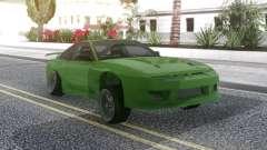 Nissan 180SX Green для GTA San Andreas