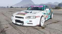 Nissan Skyline GT sedan (ER34) 2000 GT-Shop v1.1 для GTA 5