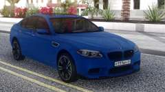 BMW M5 F10 Blue Sedan для GTA San Andreas