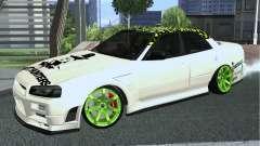 Nissan Skyline ER34 Custom для GTA San Andreas