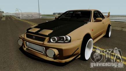 Deuces Nissan Skyline Evolution GT-R 34 для GTA San Andreas