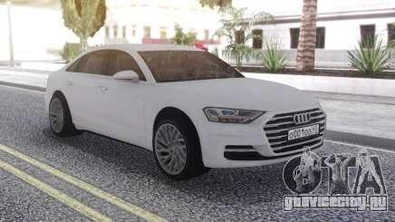 Audi A8 2018 White для GTA San Andreas