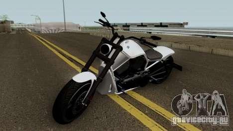 Western Motorcycle Nightblade GTA V HQ для GTA San Andreas