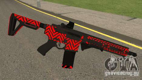 New Assault Rifle (Red) для GTA San Andreas второй скриншот