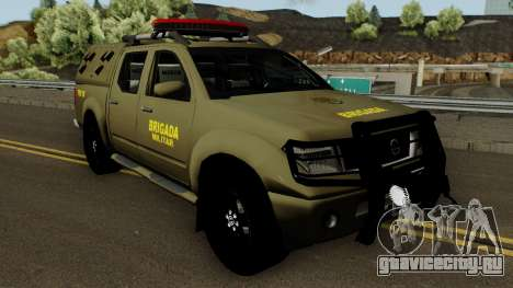 Nissan Frontier Brazilian Police (Verde) для GTA San Andreas