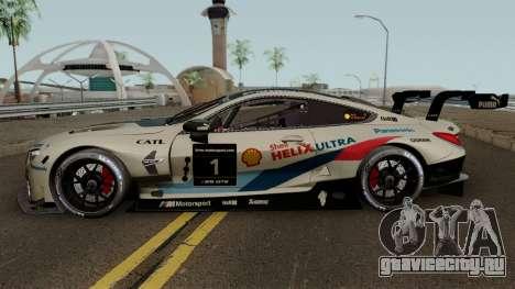 BMW M8 GTE 2018 для GTA San Andreas вид слева