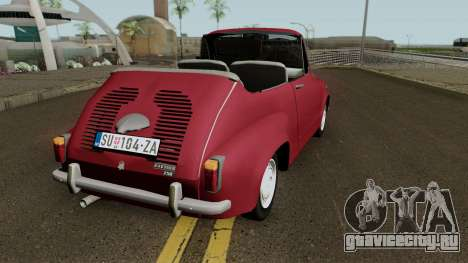Zastava 750 Cabrio для GTA San Andreas вид справа