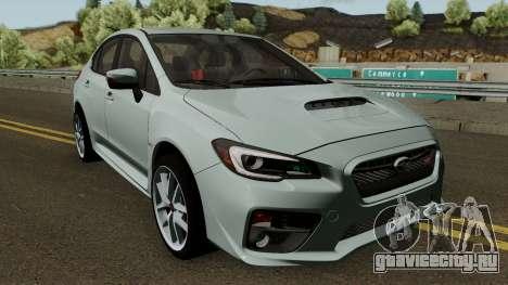 Subaru WRX STI 2016 для GTA San Andreas вид изнутри