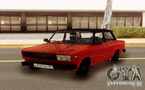 ВАЗ 2107 Красный Бродяга для GTA San Andreas