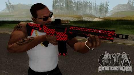 New Assault Rifle (Red) для GTA San Andreas третий скриншот