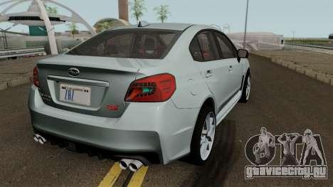 Subaru WRX STI 2016 для GTA San Andreas вид справа