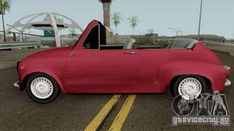 Zastava 750 Cabrio для GTA San Andreas вид слева
