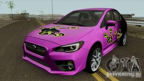 Subaru WRX STI 2016 для GTA San Andreas вид сбоку