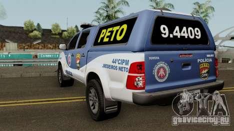 Toyota Hilux 2015 PETO CIPM PMBA для GTA San Andreas