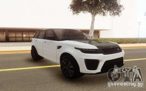 Range Rover SVR 2018 для GTA San Andreas
