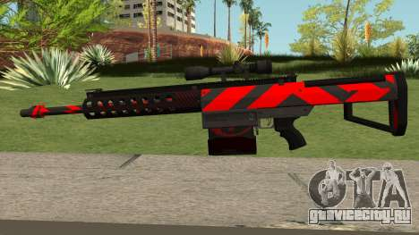 New Sniper Rifle (Red) для GTA San Andreas