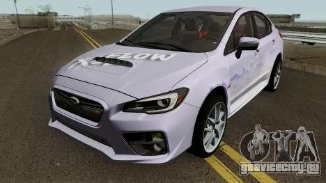 Subaru WRX STI 2016 для GTA San Andreas вид снизу
