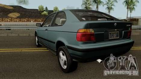 BMW 3-Series e36 Compact 318ti 1995 (US-Spec) для GTA San Andreas вид сзади слева
