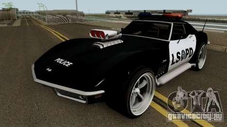 Chevrolet Corvette C3 Stingray Police LSPD V2 для GTA San Andreas