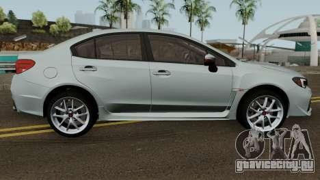 Subaru WRX STI 2016 для GTA San Andreas вид сзади