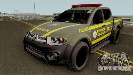 Mitsubishi L200 Brazilian Police (CHOQUE) для GTA San Andreas