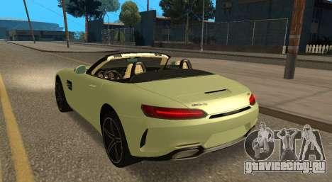 Mercedes-Benz GT-C для GTA San Andreas вид изнутри