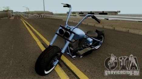 Western Motorcycle Zombie Chopper Con Pain GTA V для GTA San Andreas