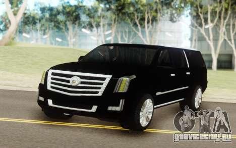 Cadillac Escalade Black для GTA San Andreas