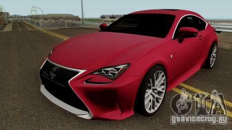Lexus RC350 Coupe 2015 для GTA San Andreas