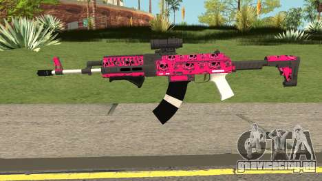 Gunrunning Assault Rifle Mk2 GTA V Pink Skull для GTA San Andreas