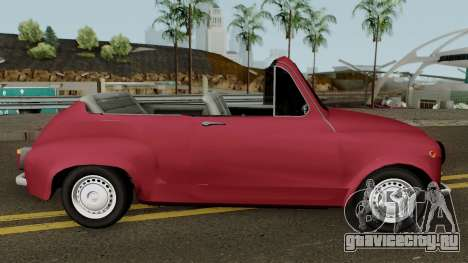Zastava 750 Cabrio для GTA San Andreas вид сзади