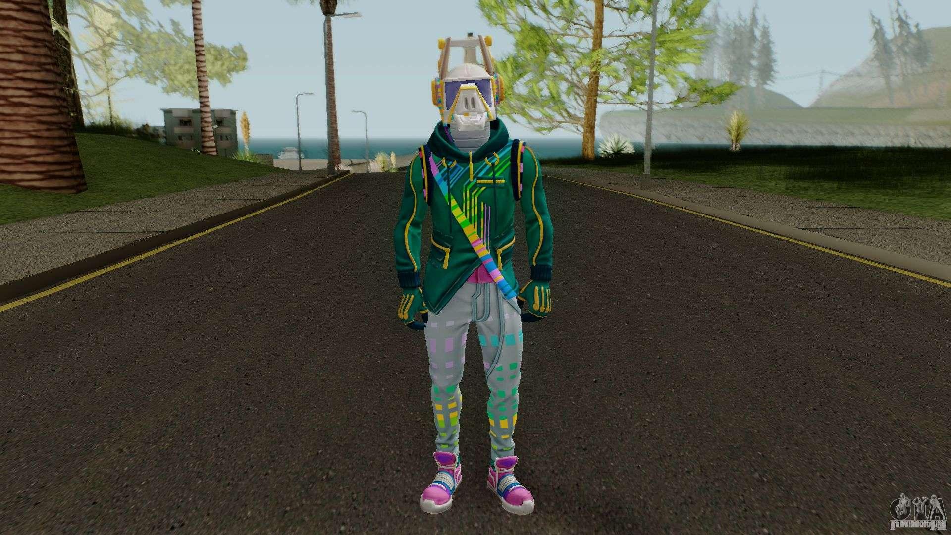 - green hoodie skin fortnite