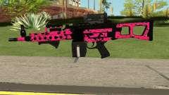 Gunrunning Combat MG MK.II GTA 5 Pink Skull для GTA San Andreas
