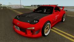 Mazda RX-7 FD3s Touge Warrior Red Brother для GTA San Andreas
