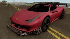 Ferrari 458 Spider Racing Edition для GTA San Andreas