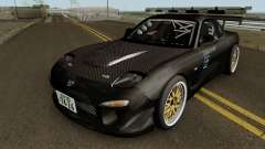 Mazda RX-7 FD3s Touge Warior - Black Brother для GTA San Andreas