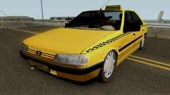 Peugeot 405 GLX Taxi Final для GTA San Andreas