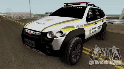 Fiat Palio Weekend Brazilian Police (Patamo) для GTA San Andreas