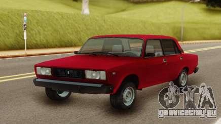 ВАЗ 2107 Классический Красный для GTA San Andreas