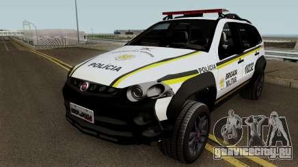 Fiat Palio Weekend Brazilian Police для GTA San Andreas