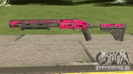 Rifle GTA V Online Pink Skull Livery для GTA San Andreas