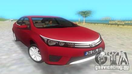 Тойота Королла 2014  для GTA Vice City