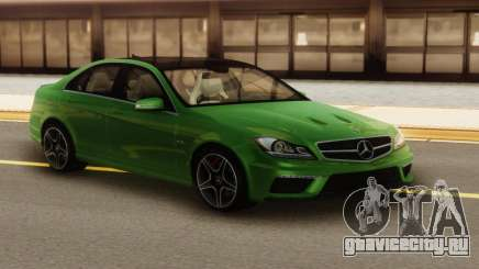 Mercedes-Benz C63 AMG Green для GTA San Andreas