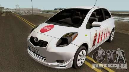 Toyota Yaris Coca-Cola 2008 для GTA San Andreas